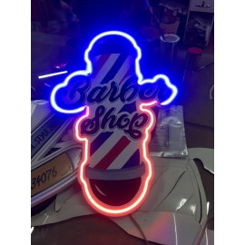 Neonled Işıklı Tabela-Barber Shop